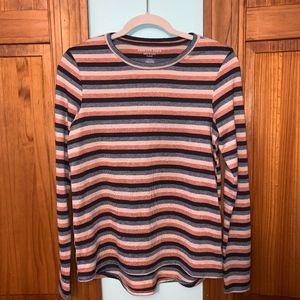 AEO Striped Soft & Sexy Plush Long Sleeve Shirt S